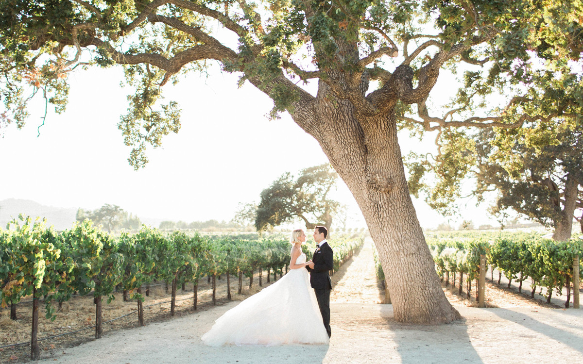Skylar Astin and Anna Camp's Sunstone Winery Wedding